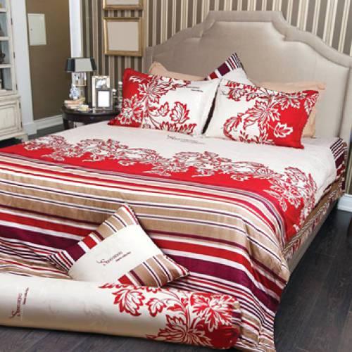 Bộ chăn ga trải giường sông hồng họa tiết hoa CG502