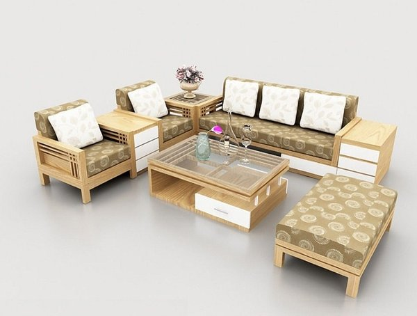 Có nên dùng bộ sofa gỗ phòng khách