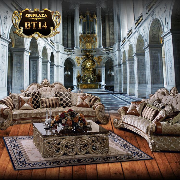 Ghế sofa bọc nệm da phong cách châu Âu sang trọng BT14-1