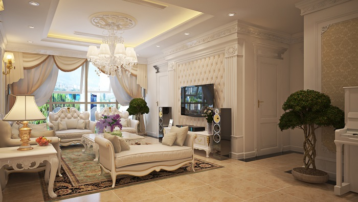 Quan tâm đến không gian trang trí phòng khách