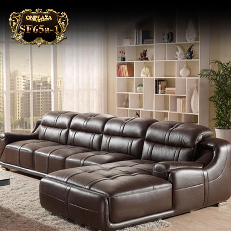 Sofa bọc da,Ghế sofa dài (3 băng góc trái) sang trọng nhập khẩu châu Âu cao cấp