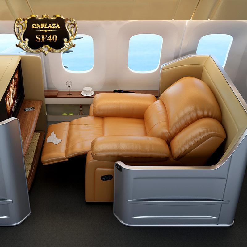 Ghế sofa thư giãn đa năng tích hợp cổng sạc USB (Nâu vàng) SF40