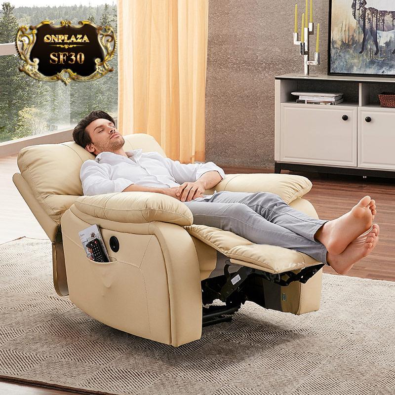 Ghế sofa đơn thư giãn đa năng cao cấp SF30 (Màu kem)