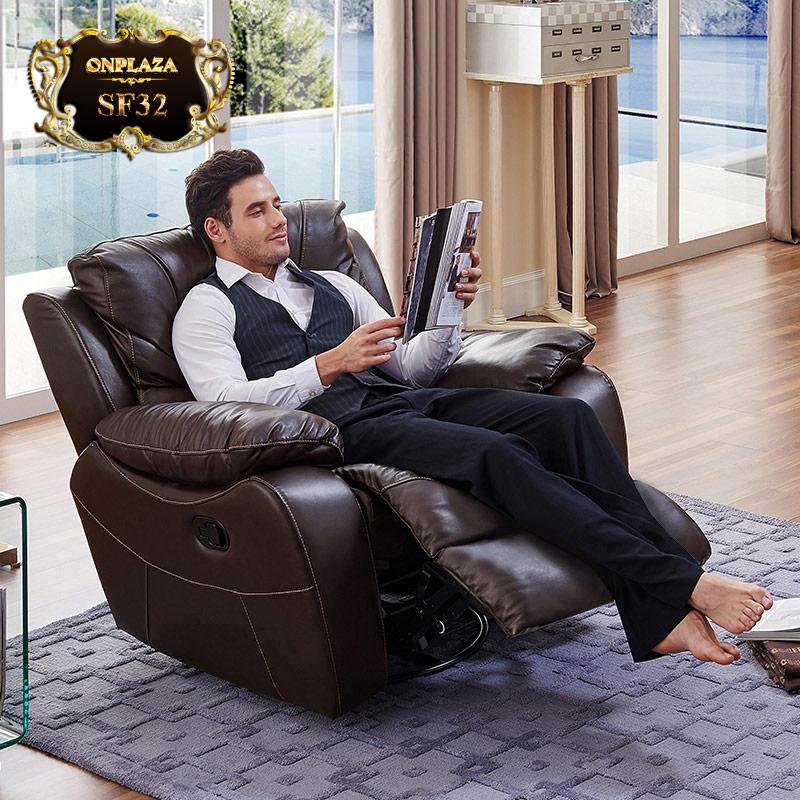 Ghế sofa massage thư giãn đa năng cao cấp SF32 gam màu nâu