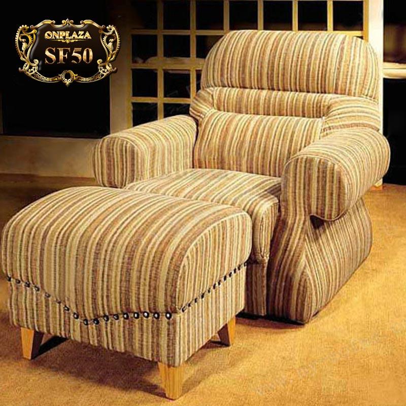 Ghế sofa thư giãn cao cấp kẻ sọc thời thượng SF50