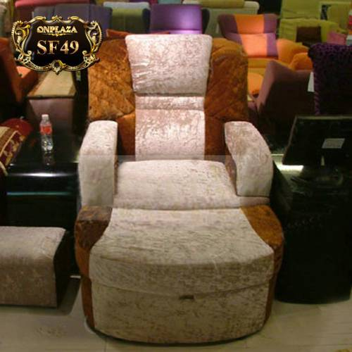 Ghế sofa đơn thư giãn cao cấp sắc kem sang trọng SF49