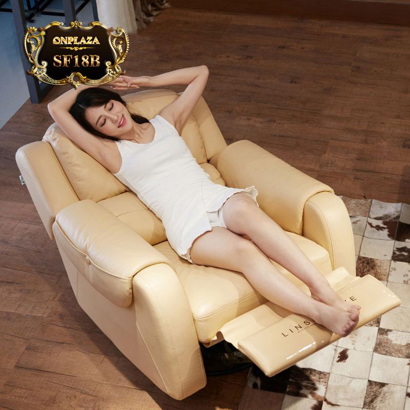 Ghế sofa đa năng giúp thư giãn cơ thể SF18B màu kem