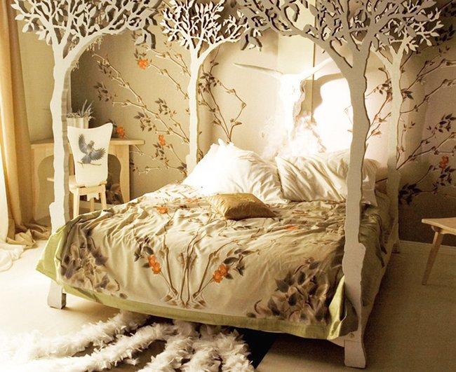 Giường gỗ cho bé hình cây cối thiên nhiên