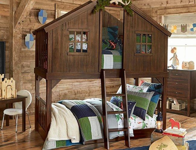 Giường cho bé hình ngôi nhà