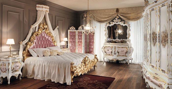 Mẫu giường ngủ công chúa chạm khắc hoa văn vô cùng tinh tế
