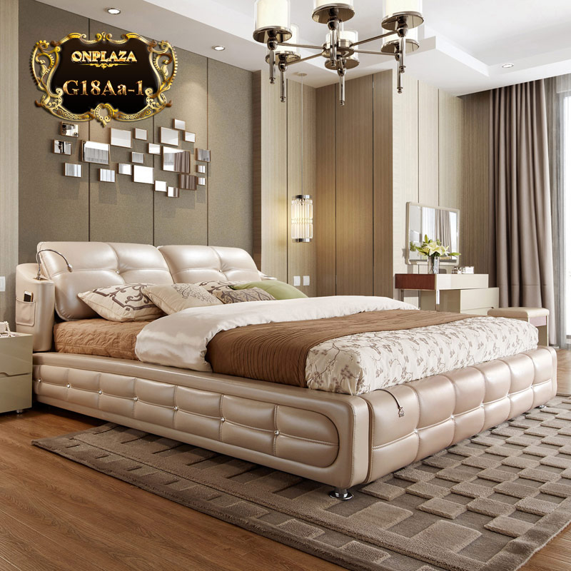 thiết kế giường ngủ hiện đại thông minh
