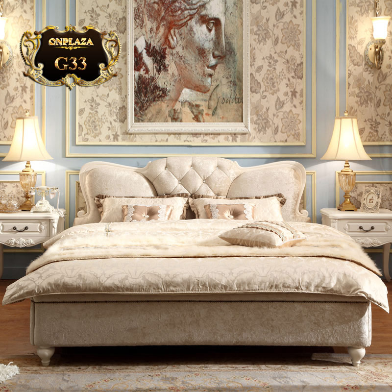 Giường ngủ bọc cao cấp nhung tuyết sang trọng G33