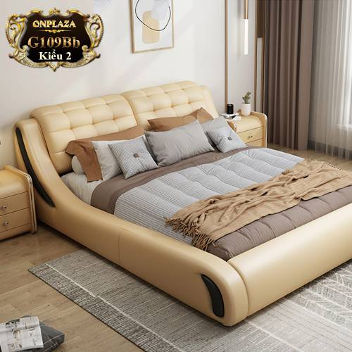 Bộ giường ngủ bọc da cao cấp hiện đại G109