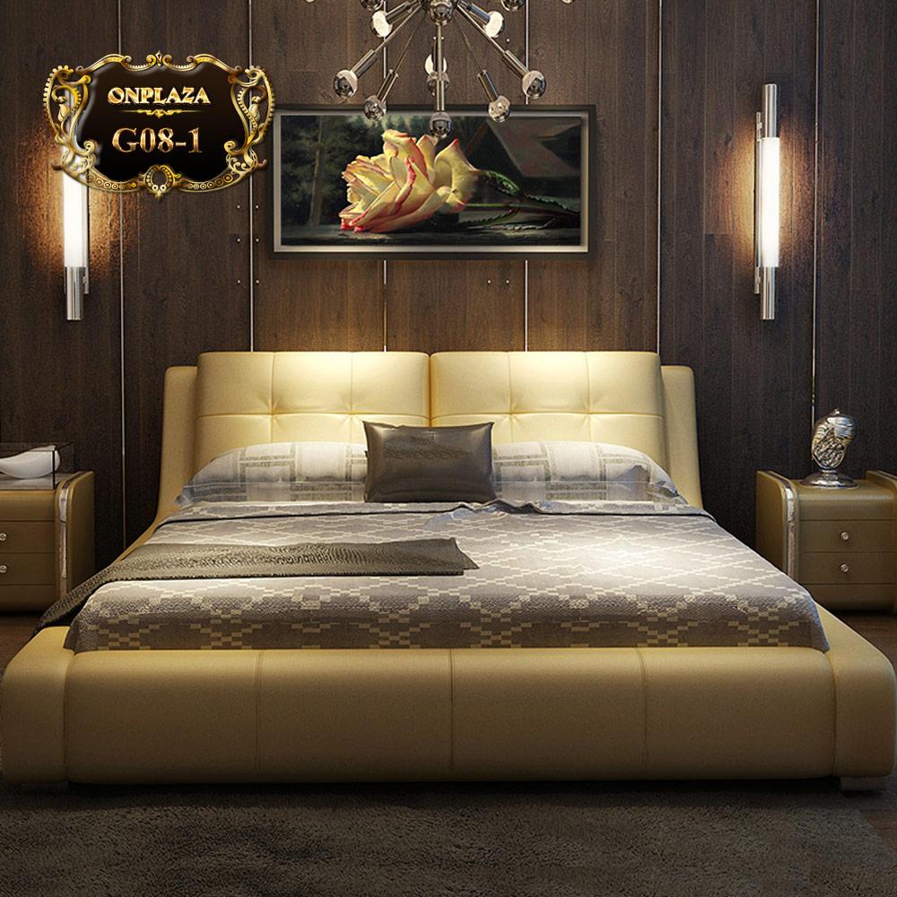 Giường ngủ cao cấp phong cách châu Âu hiện đại sang trọng G08