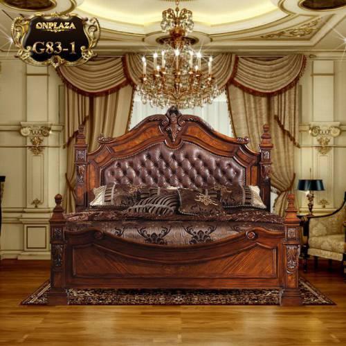 Bộ giường ngủ gỗ nhập khẩu cao cấp G83