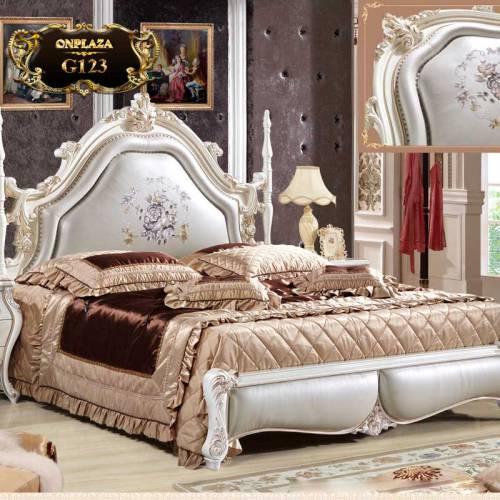 Giường ngủ cao cấp phong cách tân cổ điển G123
