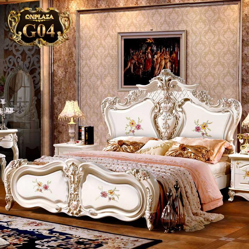 Giường ngủ cổ điển cao cấp phong cách Châu âu sang trọng G04