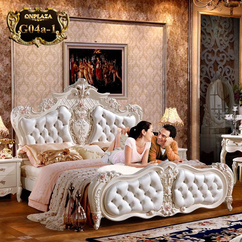 Mẫu giường tân cổ điển thiết kế theo phong cách Châu Âu vô cùng đẳng cấp G04A; Giá: 19.715.000 VNĐ