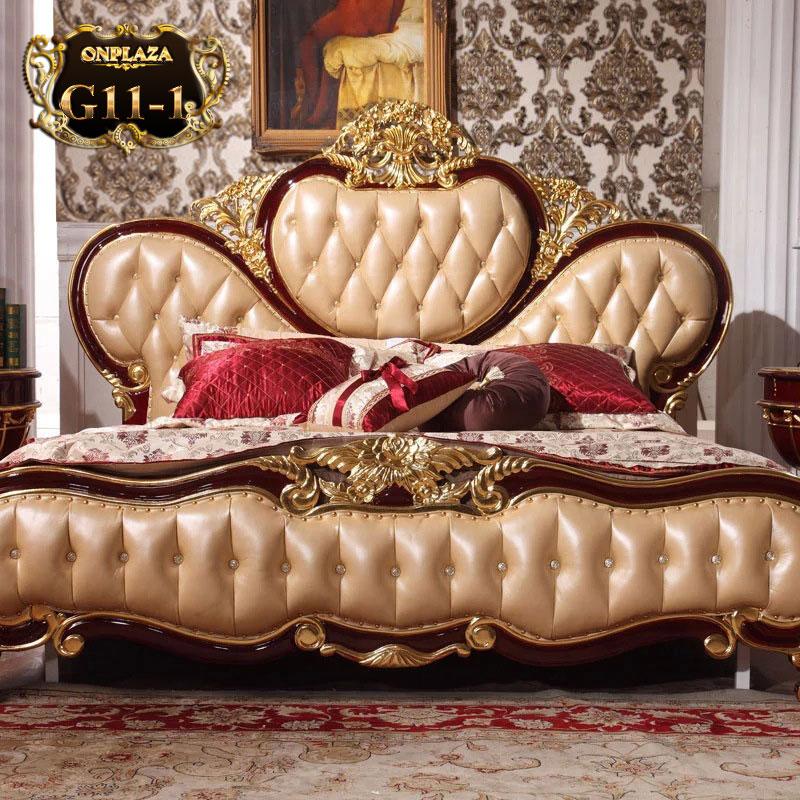 Giường ngủ cổ điển phong cách Hoàng Gia châu Âu cao cấp G11-1