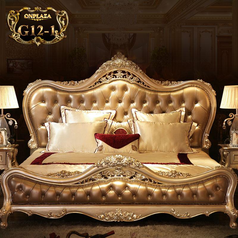 Giường ngủ cổ điển phong cách Hoàng Gia Châu Âu G12-1