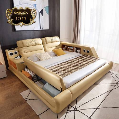 Sáng tạo với những mẫu giường ngủ bọc da có ngăn bên dưới tiện dụng G111; Giá: 25.780.000 VNĐ