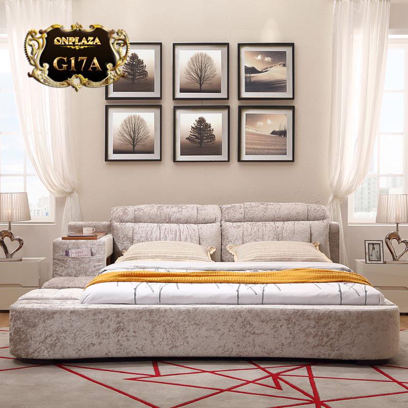 Giường ngủ đa năng bọc nhung cao cấp G17