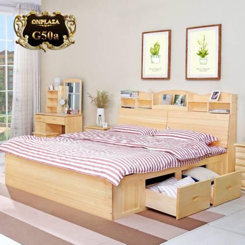 Giường gỗ có ngăn kéo G50