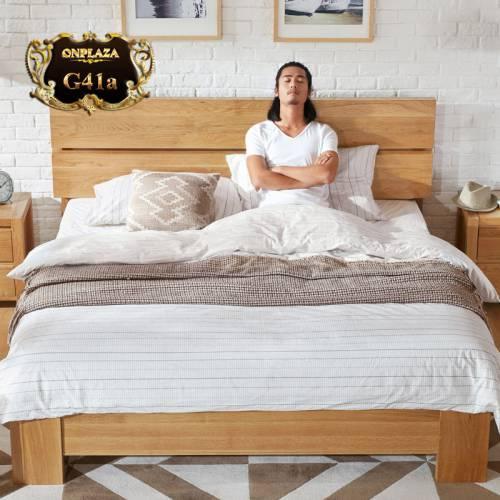 Mẫu giường ngủ thiết kế rất đơn giản nhưng vẫn thể hiện sự sang trọng, đẳng cấp G41; Giá: 20.208.000 VNĐ