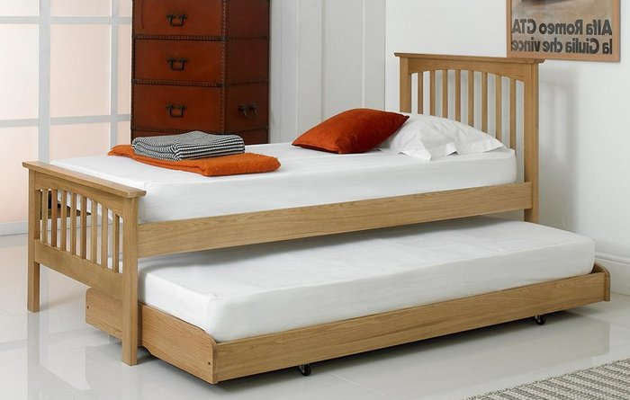 Giường ngủ gỗ sồi tự nhiên đa chức năng