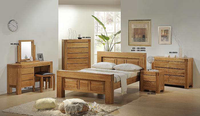 Giường gỗ sồi xuất khẩu vô cùng sang trọng, đẳng cấp