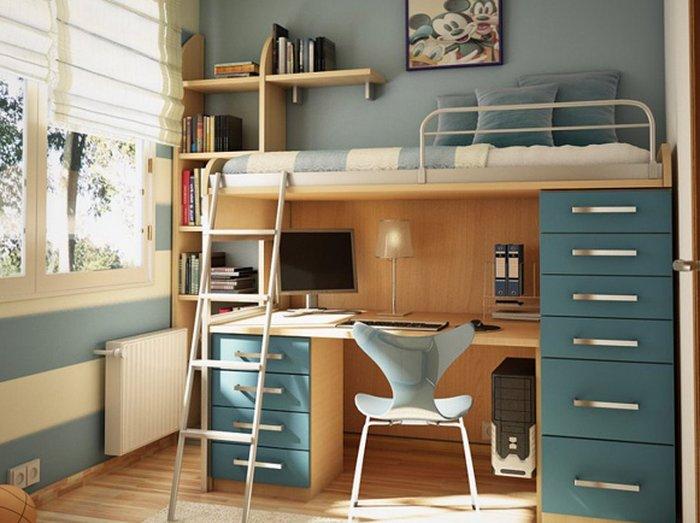 Giường ngủ kết hợp bàn làm việc sáng tạo