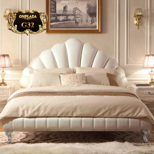 Giường ngủ ngọc trai sang trọng nhập khẩu cao cấp G32