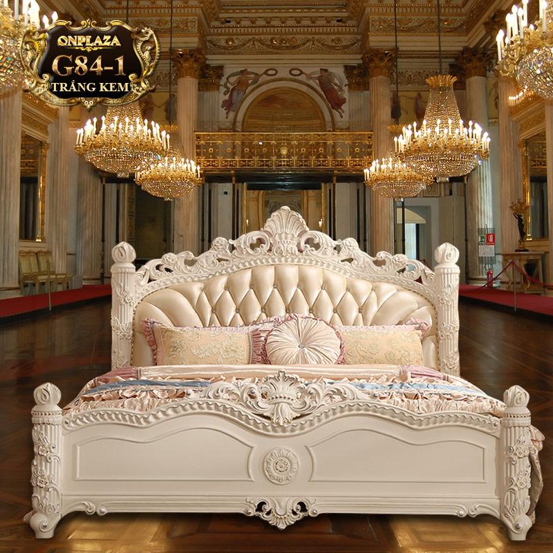 Bộ phòng ngủ tân cổ điển trắng cao cấp G84