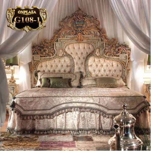 Giường ngủ cổ điển phong cách hoàng gia sang trọng G108