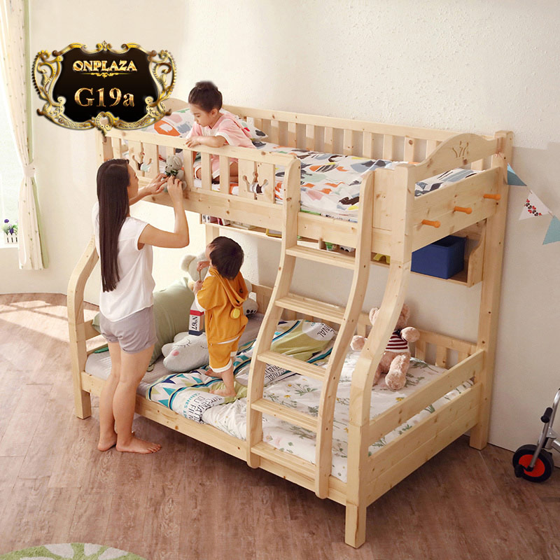 Giường ngủ gỗ 2 tầng trẻ em G19, giá: 15,224,000 VND