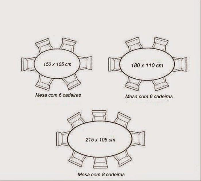 Kích thước bàn hình OVAL