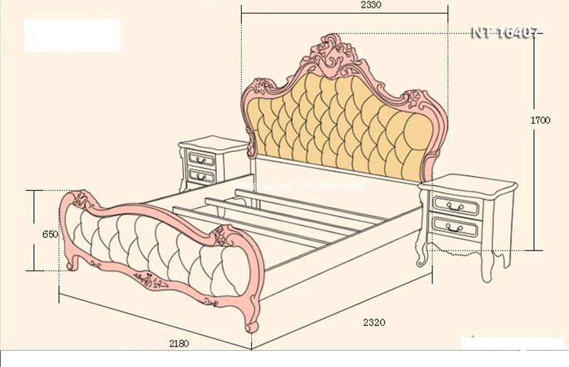 Kích thước giường ngủ đôi loại super king siêu to