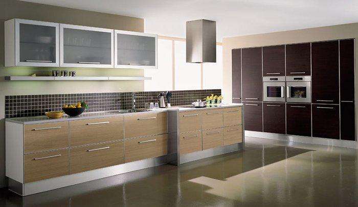 Mẫu tủ bếp đẹp gỗ Laminate
