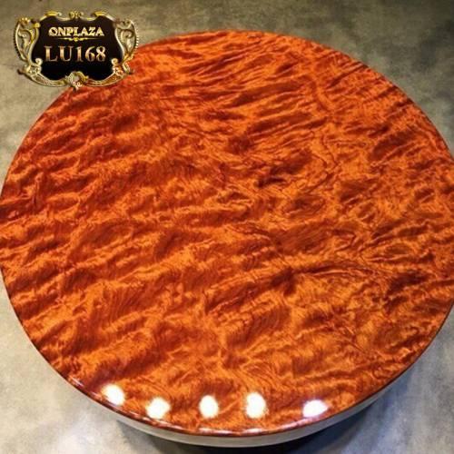 Mặt bàn gỗ tròn  nguyên tấm cao cấp LU168