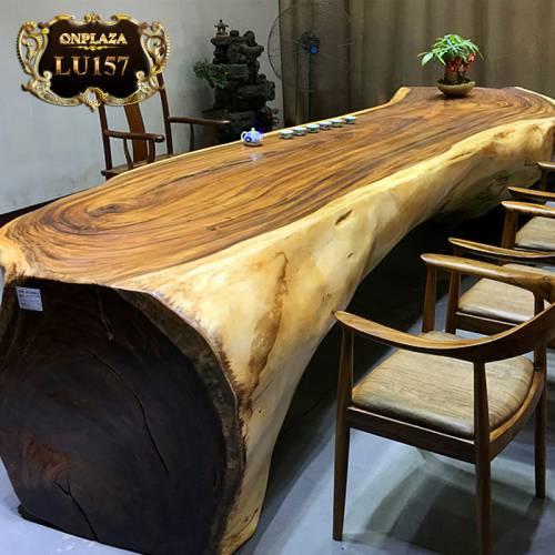 Bàn trà gỗ cẩm thị nguyên khối cao cấp LU157