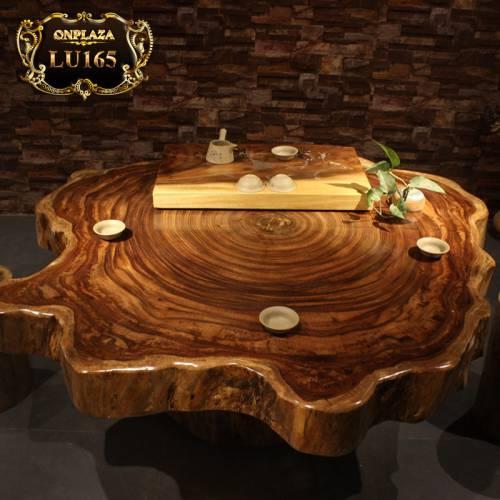 Mặt bàn trà gỗ cẩm thị phong cách truyền thống sang trọng LU165