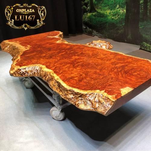 Mặt bàn trà gỗ nguyên tấm cao cấp cho phòng khách độc đáo LU167