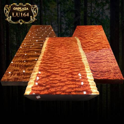 Mặt bàn trà gỗ nguyên tấm cao cấp cho phòng khách sang trọng LU164