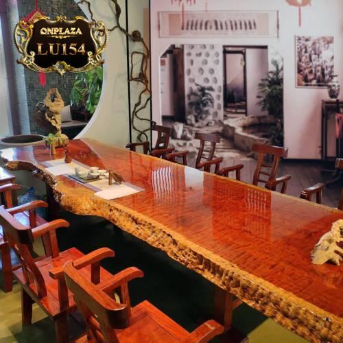 Mặt bàn trà gỗ nu nguyên tấm cao cấp LU154
