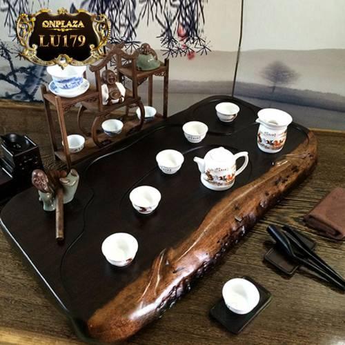 Mặt bàn trà gỗ sao đen Khánh Hòa nguyên tấm cao cấp LU179