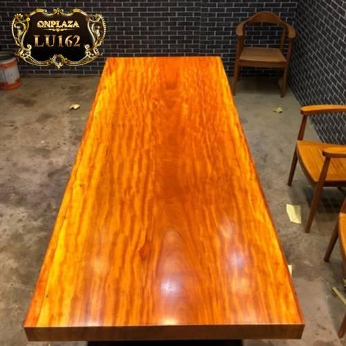 Mặt bàn trà gỗ sụn hương việt nguyên tấm cao cấp LU162