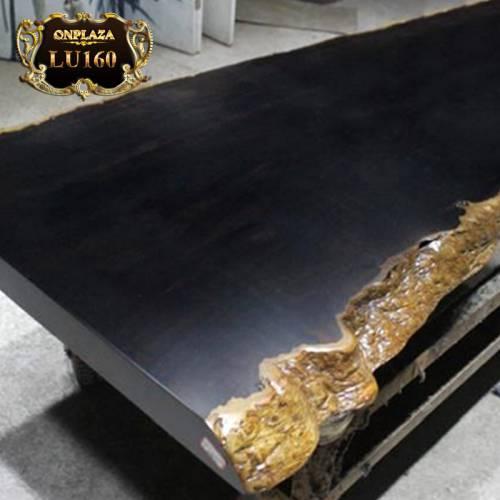 Mặt bàn trà gỗ tự nhiên nguyên tấm cao cấp cho phòng khách truyền thống LU160