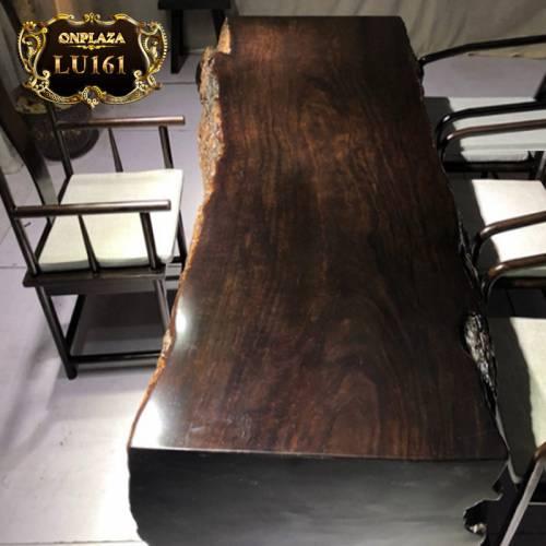 Mặt bàn trà gỗ tự nhiên nguyên tấm cao cấp cho phòng khách truyền thống LU161