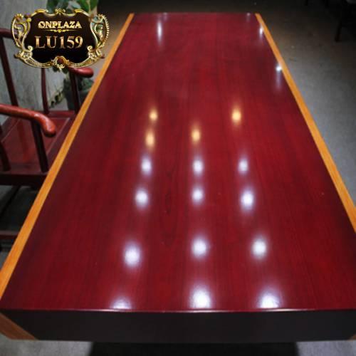 Măt bàn trà gỗ tự nhiên nguyên tấm cho phòng khách sang trọng LU159