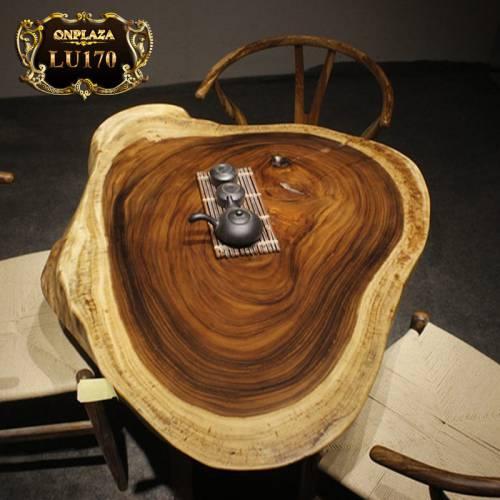 Mặt bàn trà nguyên tấm tự nhiên vân gỗ đẹp cao cấp LU170